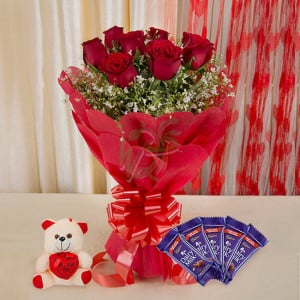 Cute Happiness - Valentine's Day Flowers and Chocolates