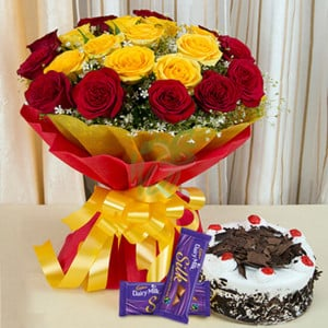 Delights Galore - Send Diwali Flowers Online
