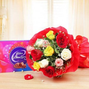 Celebrations with Roses - Online Christmas Gifts Flowers Cakes