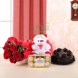 Pie of Affection - Valentine's Day Flowers and Chocolates