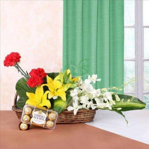 Anniversary Delight - Send Diwali Flowers Online