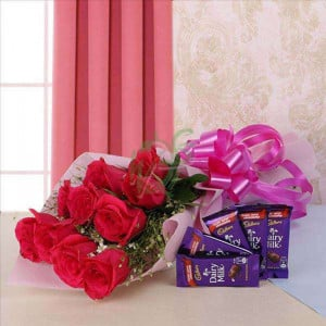 Beauty And Blush - Valentine's Day Flowers and Chocolates