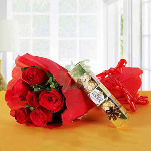 Ferrero Red Love - Send Diwali Flowers Online