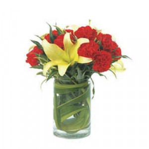 Warm Hug - Glass Vase Arrangements