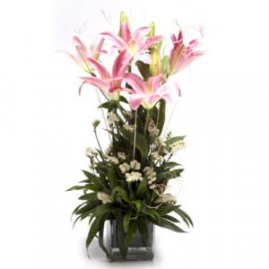 Bright & Cheery - Glass Vase Arrangements