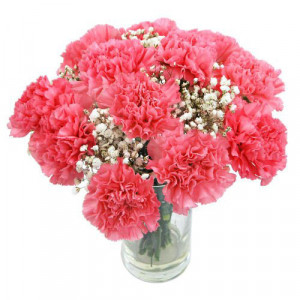 Pink Sweet Heart - Glass Vase Arrangements