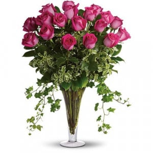 Pink Passion - Glass Vase Arrangements