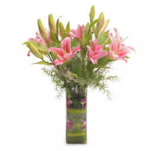 Oriental Bliss - Send Lilies Online India