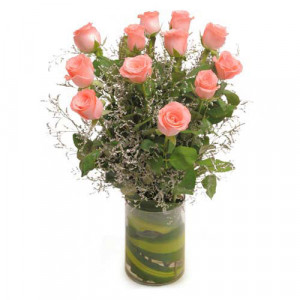 Precious In Pink - Glass Vase Arrangements