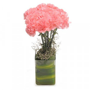 Pink Carnival - Glass Vase Arrangements