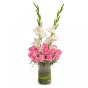 Pink Precious - Glass Vase Arrangements