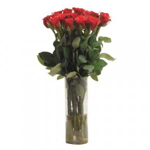 Red Hot - Glass Vase Arrangements