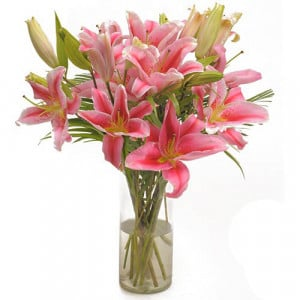 Pink Oriental - Glass Vase Arrangements