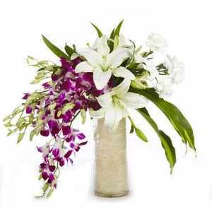 Royal Love - Glass Vase Arrangements