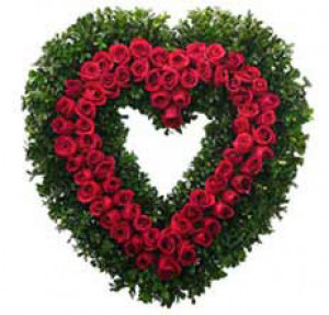 Roses Heart - Send Heart Shape Flower Arrangement Online