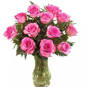 Pink Vase - Glass Vase Arrangements