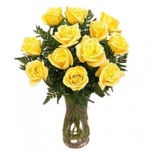 Yellow Vase - Glass Vase Arrangements