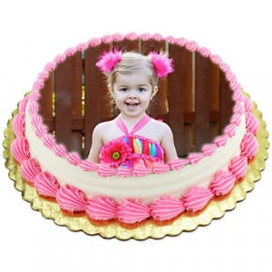 1kg Photo Cake Butterscotch - Send Personalised Photo Cakes Online