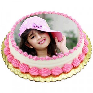 1kg Photo Cake Pineapple - Send Personalised Photo Cakes Online