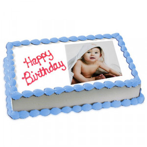2kg Photo Cake Vanilla Sponge Eggless - Send Eggless Cakes Online