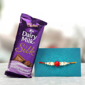 Jubilant Pack Rakhi With Chocolate - Rakhi for Brother Online