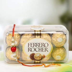 Rochers With Radiant Rakhi - Send Rakhi Gifts Online