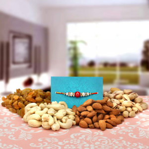 Healthy Dry Fruits Hamper - Send Rakhi Gifts Online