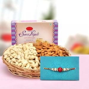 Hamper Of Sweet N Salty - Rakhi for Brother Online