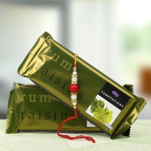 Raisins Rum Chocolate Combo - Rakhi for Brother Online