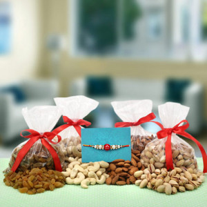 Healthy Delight Combo - Rakhi for Brother Online