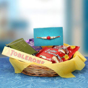 Lovely Rakhi Hamper - Send Rakhi Gifts Online