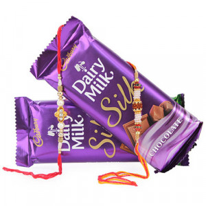 Rakhi With Cadbury Silk - Rakhi for Brother Online