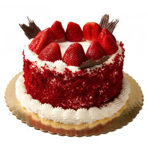 Red Velvet Cherry Cake - Send Red Velvet Cakes Online