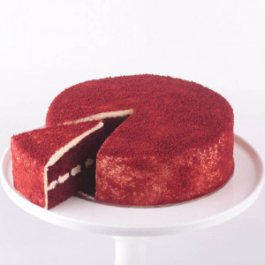 Red Velvet Round Cut Cake - Online Cake Delivery In Jalandhar