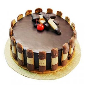 Crunchy Chocolate Cake 1kg - Birthday Cake Online Delivery - Send Chocolate Cakes Online