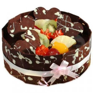 The Chocolaty Surprise 1kg - Send Eggless Cakes Online