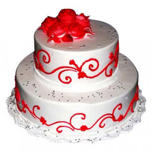 The Royal Three Tier Cake 3 Kg - Birthday Cake Online Delivery - Send Mother's Day Cakes Online