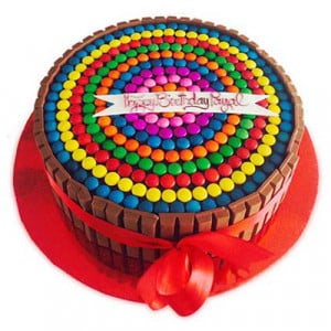 Rainbow Candy Cake 1kg - Birthday Cake Online Delivery - Send Eggless Cakes Online