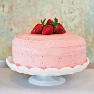 Lovely Strawberry Cake - Send Eggless Cakes Online