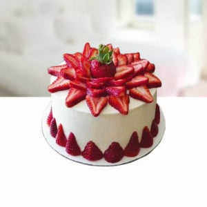 Dark Strarberry Cake - Send Strawberry Cakes Online
