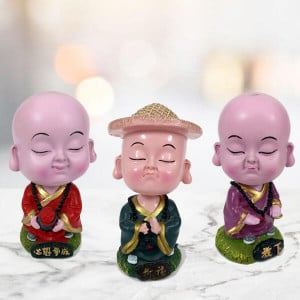 Set of 3 Buddha Monks - Send Gifts to Zirakpur