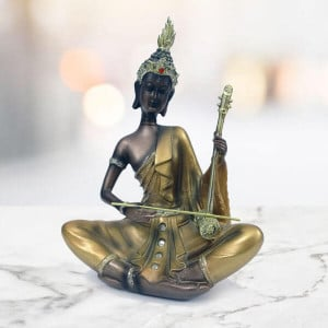 Goodease Divine Buddha Statue Playing Musical Instruments - Send Gifts to Zirakpur
