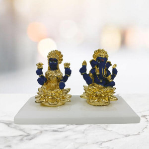 Laxmi Ganesha Statue Blue - Send Gifts to Mohali
