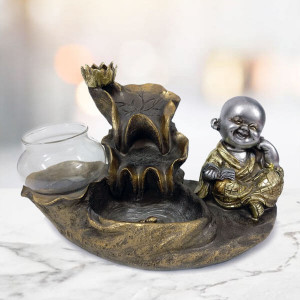 Laughing Buddha Fog Fountain - Send Gifts to Mohali