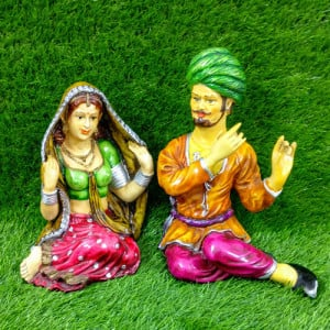 Rajasthani Love Couple Statue - Send Gifts to Mohali