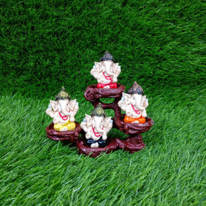 4 Ganesha Showpiece Idols - Send Gifts to Mohali