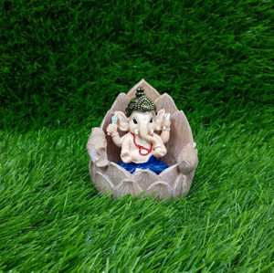 Lotus Base Ganesha Statue - Send Gifts to Mohali