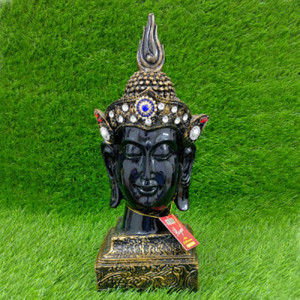 Crown Buddha Black Head Statue - Send Gifts to Mohali