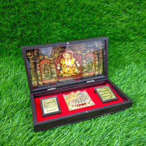 Charan Paduka In Wooden Box - Send Gifts to Mohali