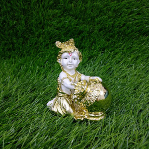 Matki Krishna Car Dashboard Idol - Send Gifts to Mohali